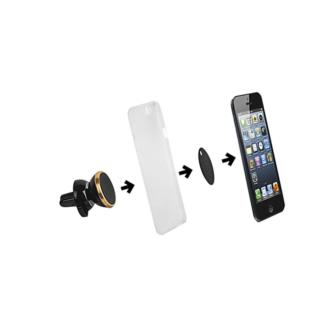 Autohoidja magnetiga ja klambriga mobiiltelefoni hoidik autosse 3 min