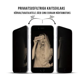 iPhone 7 kaitseklaas privaatsus filtriga
