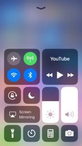 iOS 11 control centeri haldamine