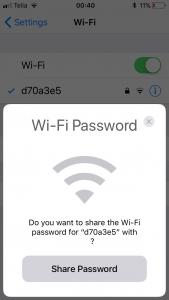 wifi parooli andmine jagamine