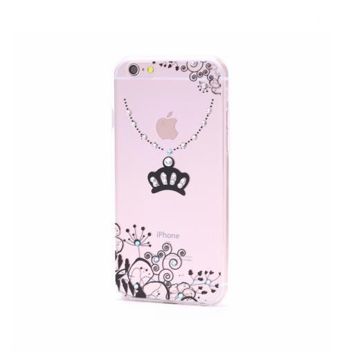 iPhone 6 6s ümbris kroon must