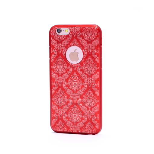 iPhone 6 6s korpus muster punane