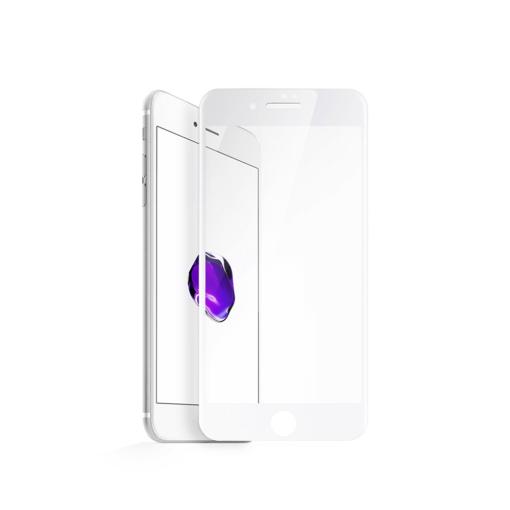 iPhone 8 iPhone 7 täisekraan kaitseklaas valge