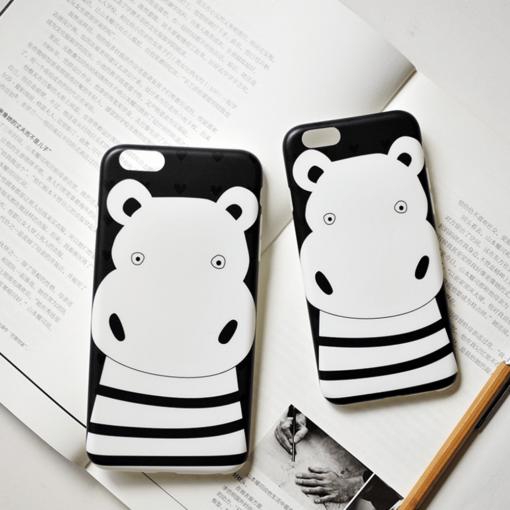 iPhone 8 7 ümbris Maoxin jõehobu silikoonist 5