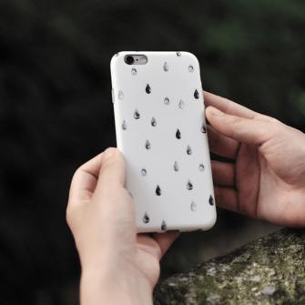 iPhone 8 7 ümbris Maoxin piisad silikoonist 1