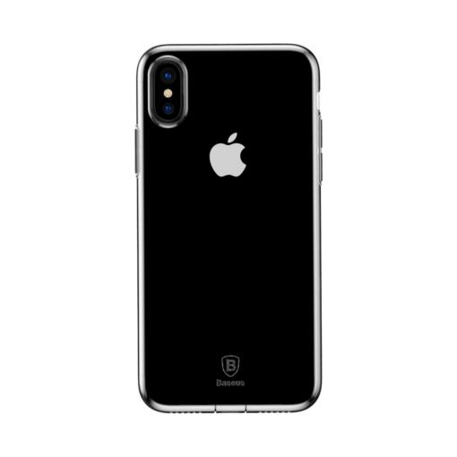 iPhone X ümbris Baseus Simple Gel TPU silikoon läbipaistev 1