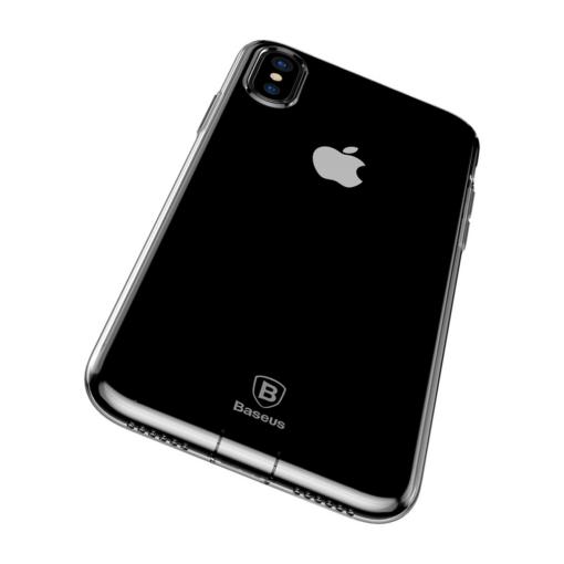 iPhone X ümbris Baseus Simple Gel TPU silikoon läbipaistev 2