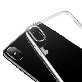 iPhone X ümbris Baseus Simple Gel TPU silikoon läbipaistev 3