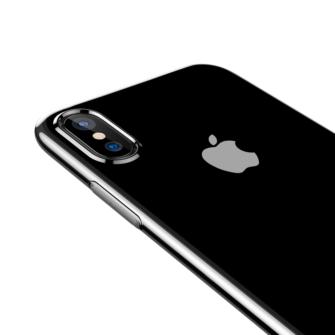 iPhone X ümbris Baseus Simple Gel TPU silikoon läbipaistev 4