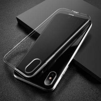 iPhone X ümbris Baseus Simple Gel TPU silikoon läbipaistev 6