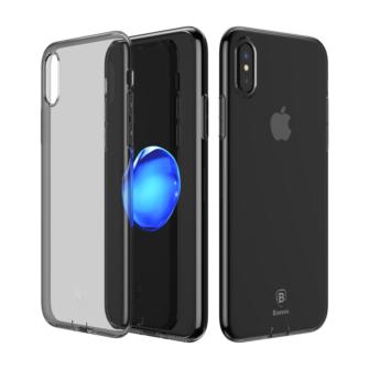 iPhone X ümbris Baseus Simple Gel TPU silikoon must 1