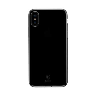 iPhone X ümbris Baseus Simple Gel TPU silikoon must 2