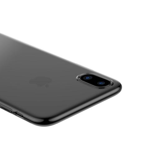 iPhone X ümbris Baseus Simple Gel TPU silikoon must 4