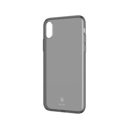 iPhone X ümbris Baseus Simple Gel TPU silikoon must