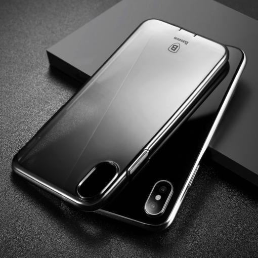 iPhone X ümbris Baseus Simple Gel TPU silikoon must 6