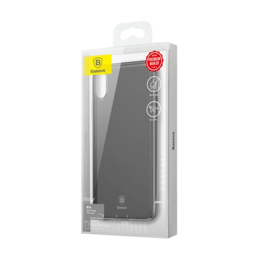 iPhone X ümbris Baseus Simple Gel TPU silikoon must 7