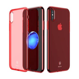 iPhone X ümbris Baseus Simple Gel TPU silikoon punane 1
