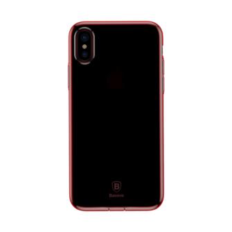 iPhone X ümbris Baseus Simple Gel TPU silikoon punane 2