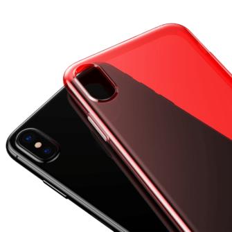 iPhone X ümbris Baseus Simple Gel TPU silikoon punane 3