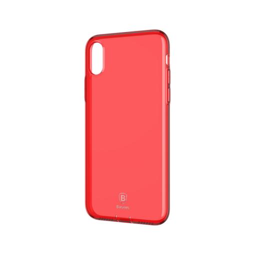 iPhone X ümbris Baseus Simple Gel TPU silikoon punane
