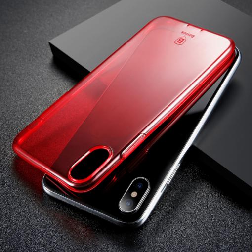 iPhone X ümbris Baseus Simple Gel TPU silikoon punane 6
