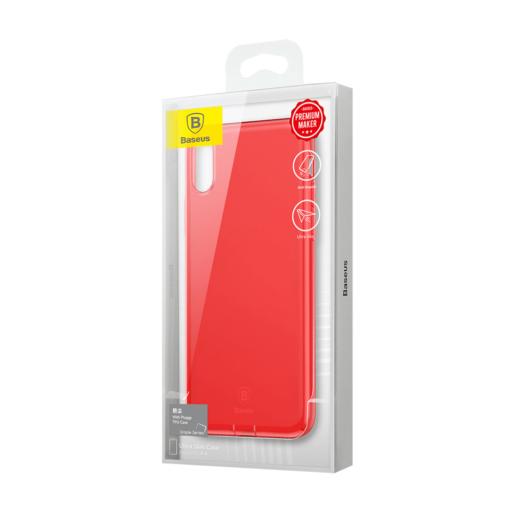 iPhone X ümbris Baseus Simple Gel TPU silikoon punane 7