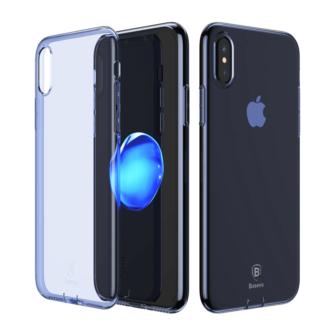 iPhone X ümbris Baseus Simple Gel TPU silikoon sinine 1