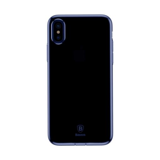 iPhone X ümbris Baseus Simple Gel TPU silikoon sinine 3