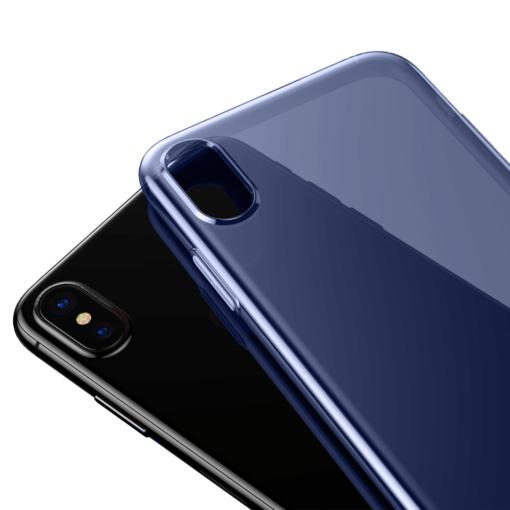 iPhone X ümbris Baseus Simple Gel TPU silikoon sinine 4