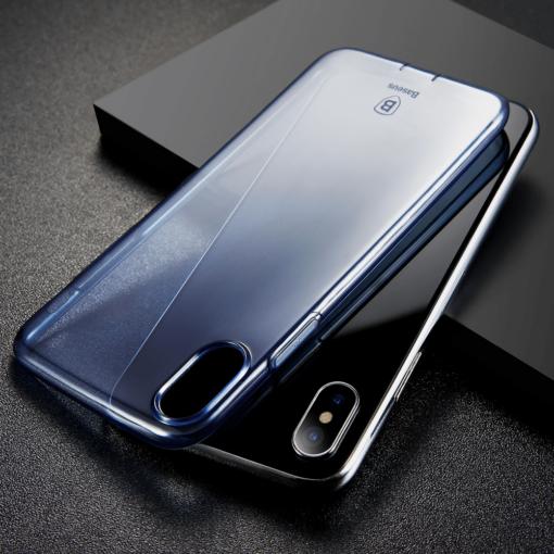 iPhone X ümbris Baseus Simple Gel TPU silikoon sinine 5