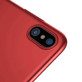 iPhone X ümbris Baseus Ultra Thin Punane 3