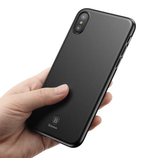 iPhone X ümbris Baseus Wing Case Ultra Thin must 3