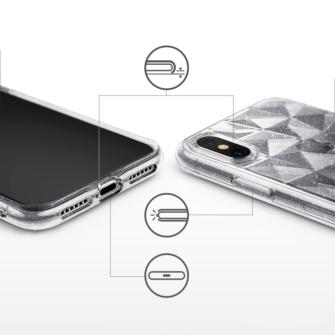 iPhone X ümbris Ringke Air Prism Glitter 3D silikoonist ümbris hall 4