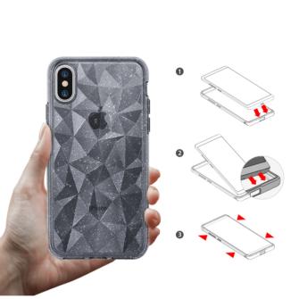 iPhone X ümbris Ringke Air Prism Glitter 3D silikoonist ümbris hall 5