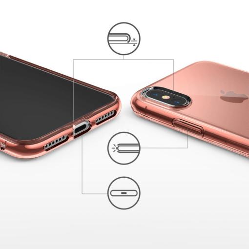 iPhone X ümbris Ringke Air Ultra Thin silikoonist läbipaistev 3