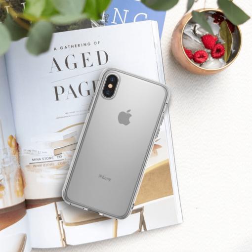 iPhone X ümbris Ringke Air Ultra Thin silikoonist läbipaistev 4
