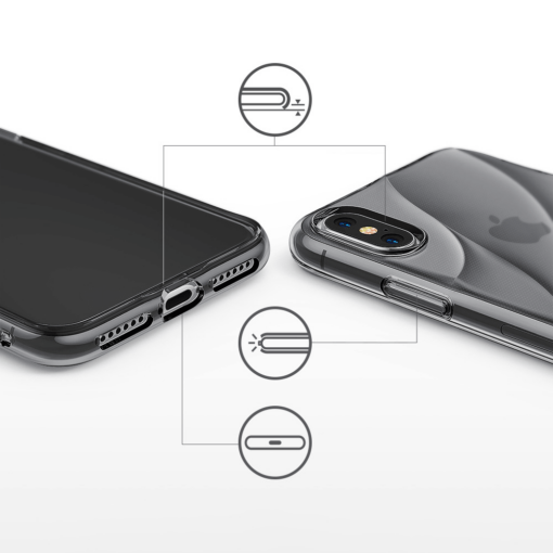 iPhone X ümbris Ringke Flow Case Cover Gray Hall 2