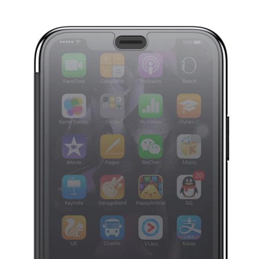 iPhone X kaaned Baseus Touchable Case TPU Flip kaitseklaasiga must 4