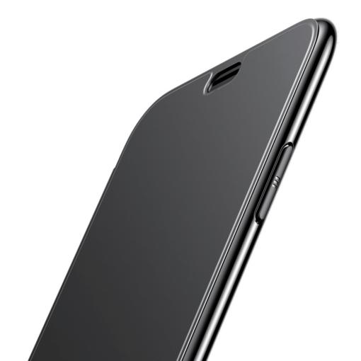 iPhone X kaaned Baseus Touchable Case TPU Flip kaitseklaasiga must 5