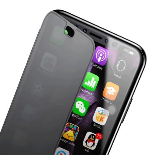 iPhone X kaaned Baseus Touchable Case TPU Flip kaitseklaasiga must 7
