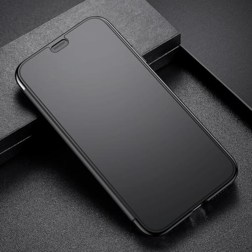 iPhone X kaaned Baseus Touchable Case TPU Flip kaitseklaasiga must 8
