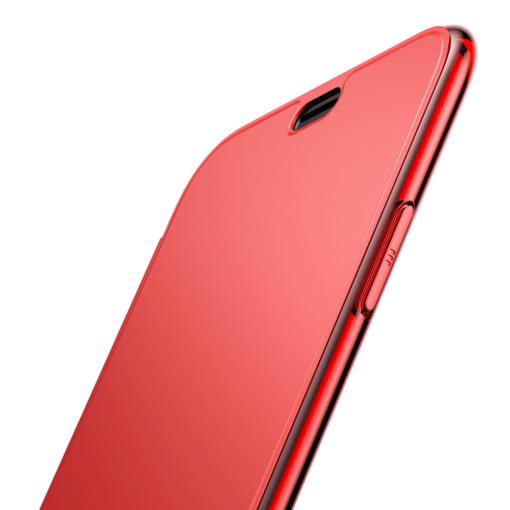 iPhone X kaaned Baseus Touchable Case TPU Flip kaitseklaasiga punane 5