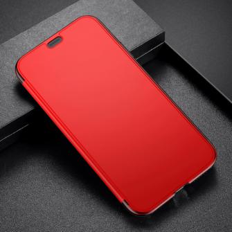 iPhone X kaaned Baseus Touchable Case TPU Flip kaitseklaasiga punane 9