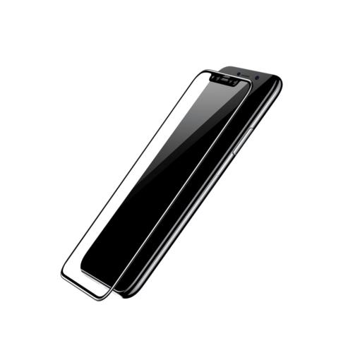 iPhone X kaitseklaas Baseus Silk täisekraan ekraanikaitse must 1