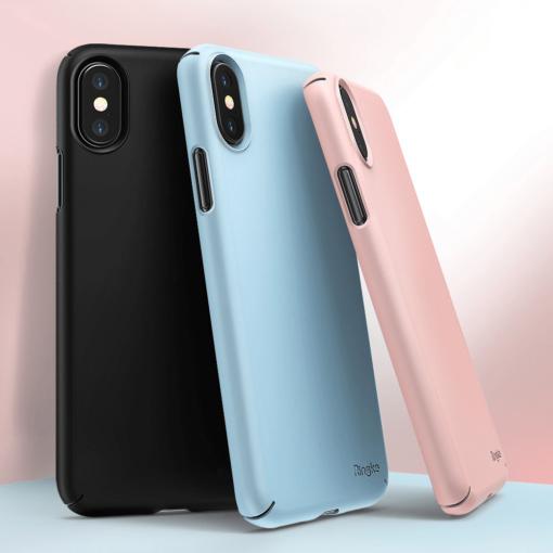 iPhone X korpus Rinke Slim plastikust must 3
