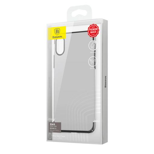 iPhone X tagus Baseus Glitter Hard PC plastikust must 7