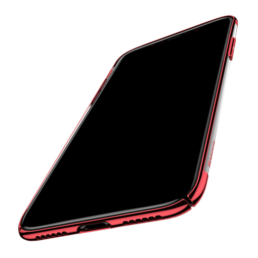 iPhone X tagus Baseus Glitter Hard PC plastikust punane 3