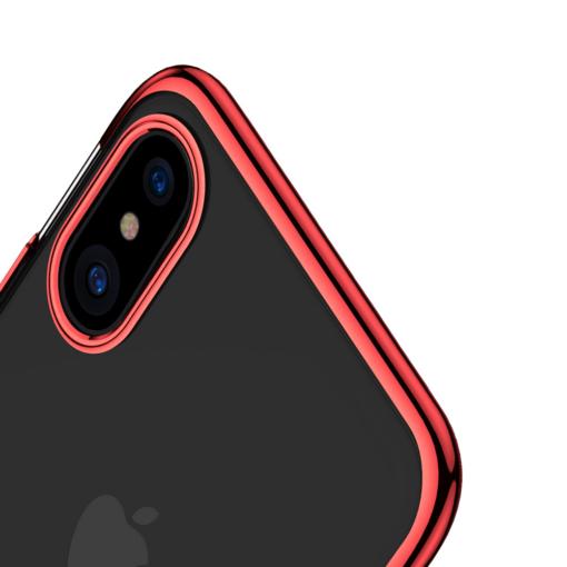 iPhone X tagus Baseus Glitter Hard PC plastikust punane 5