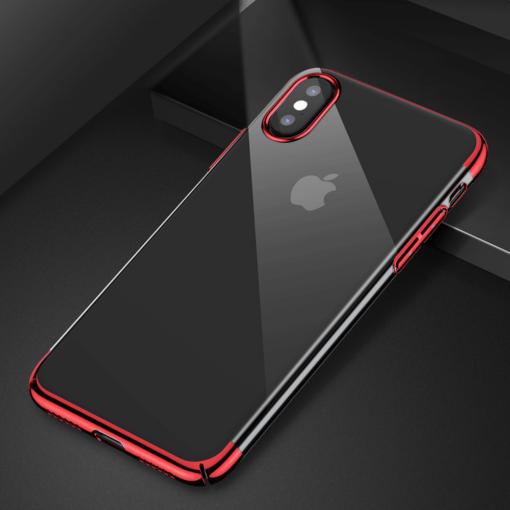 iPhone X tagus Baseus Glitter Hard PC plastikust punane 6