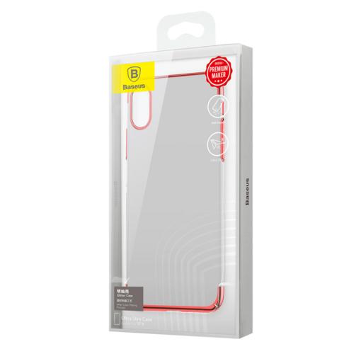 iPhone X tagus Baseus Glitter Hard PC plastikust punane 7